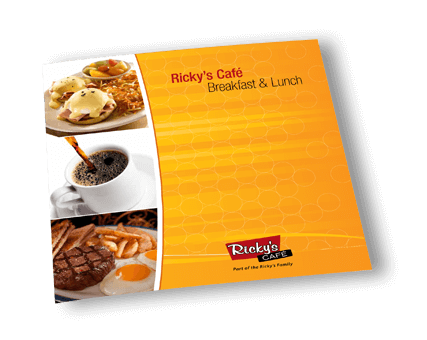 Ricky's Cafe Breakfast and Lunch Menu