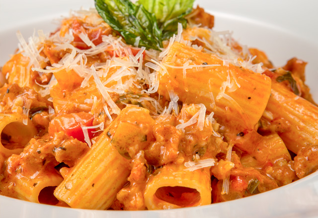 Rigatoni Rose with Chorizo