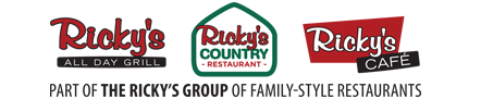 Ricky's  Group of Family Restaurants Logo