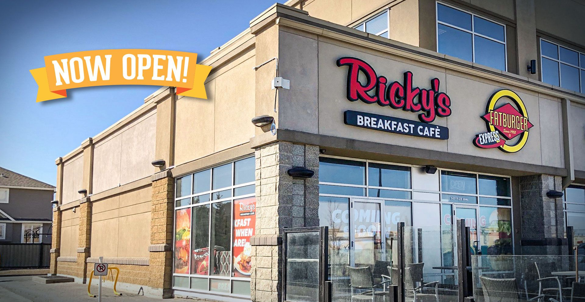 Our newest Ricky's Breakfast Cafe has opened at The Market at Magrath alongside a Fatburger Express!  Check out our Fresh Waffle & Pancake Station - made to order right before your eyes.
